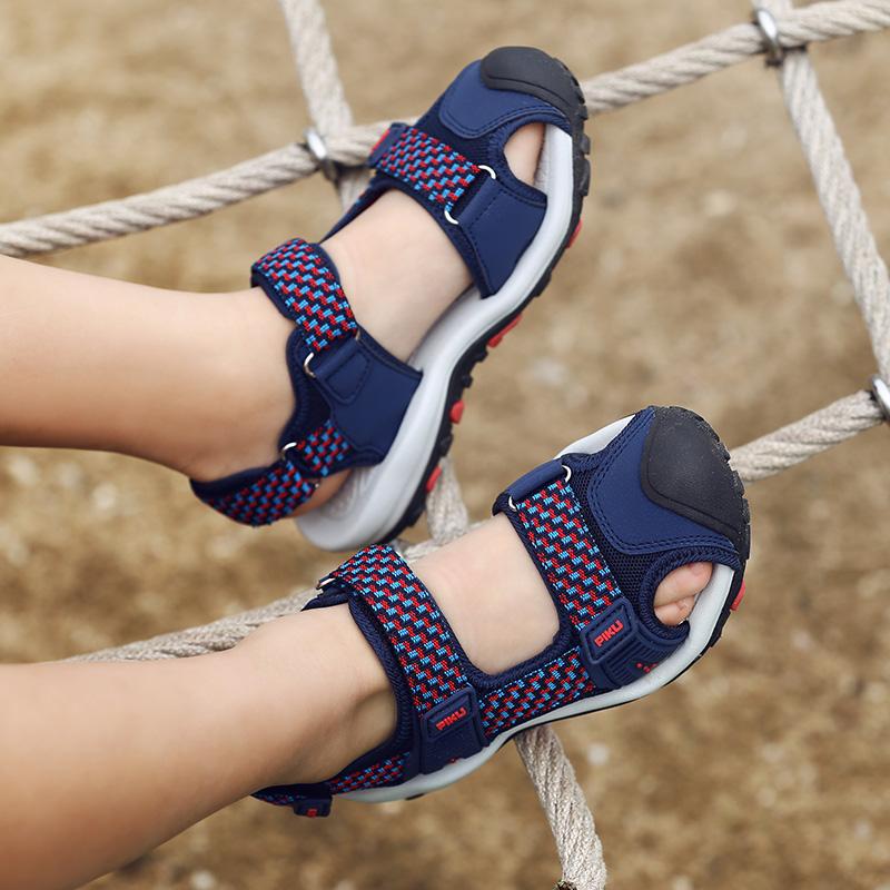 男童凉鞋夏季2018新款中大童韩版包头防滑软底小孩沙滩鞋儿童凉鞋