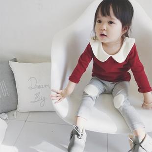 婴儿纯棉打底衫女 秋装上衣女宝