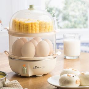 小熊蒸蛋器自动断电家用小型迷你早餐机蒸鸡蛋羹多功能煮蛋器神器