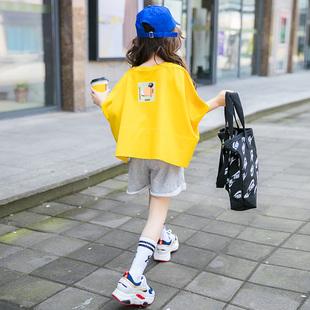 女童夏装2020新款儿童装短袖运动套装中大童洋气潮衣服女孩两件套图片