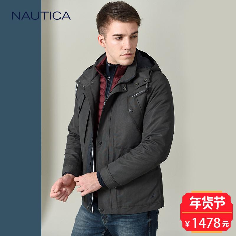 Nautica/诺帝卡官方旗舰店2017秋冬新品三合一羽绒服NA002438