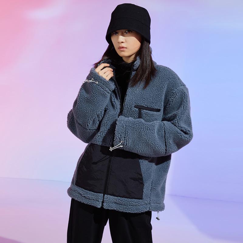 羊羔绒外套男加厚加绒冬季复古潮流羊羔毛情侣棉衣 A436-902-P100