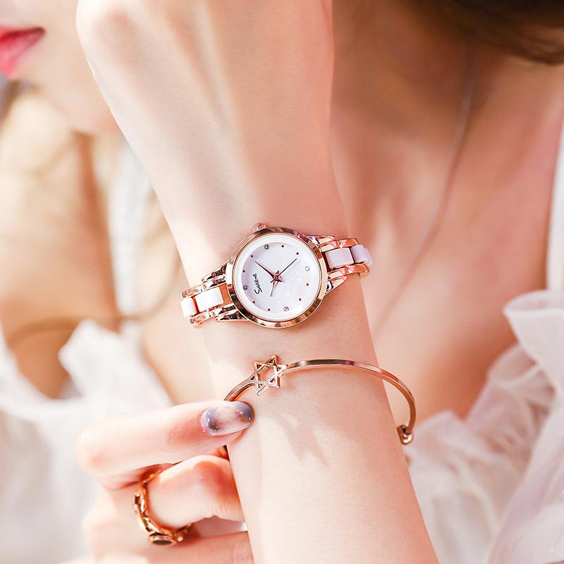 手表女简约气质学生时尚女士小巧手链表防水小众石英表女名牌正品