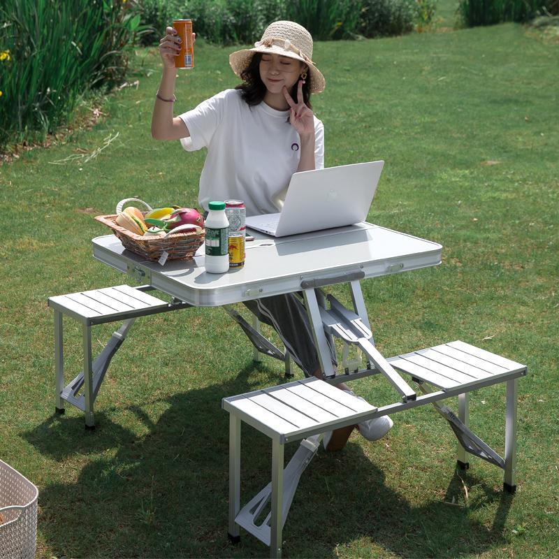 折叠桌户外摆摊地推展业便携式折叠桌子简易野炊小桌子折叠餐桌椅