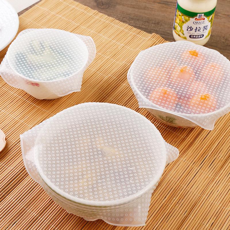日本食品级硅胶保鲜膜盖厨房透明万能密封碗盖重复使用杯盖密封盖