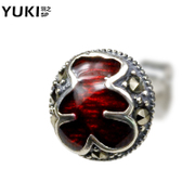 YUKI men white fungus nails 925 Silver Japanese and Korean fashion violence bear people only Thai silver designs