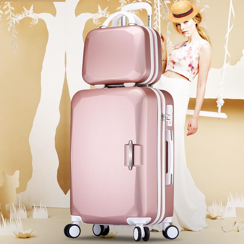 宋人子母箱行李箱24寸皮箱拉杆箱万向轮男女旅行箱子密码箱包20