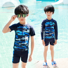Children's swimsuit boy's suit split baby swimming long sleeve young middle and big children's swimming pants equipment