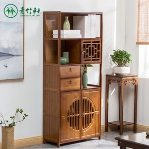 Bookcase with door with drawer bookcase simple modern small bookcase storage rack solid wood space-saving children's bookcase