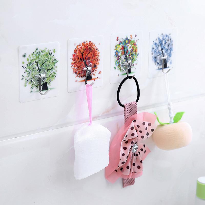 创意宿舍厨房挂钩家用卫生间墙壁承重透明粘钩无痕强力粘钩魔力贴