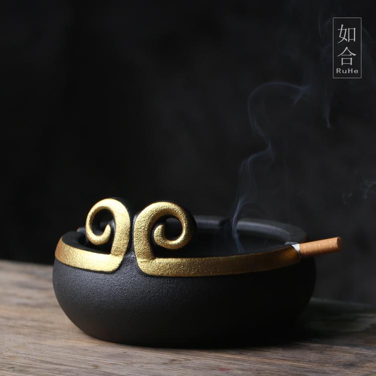 如合 金箍圈烟灰缸紧箍咒创意家居装饰摆设办公客厅茶几个性礼品