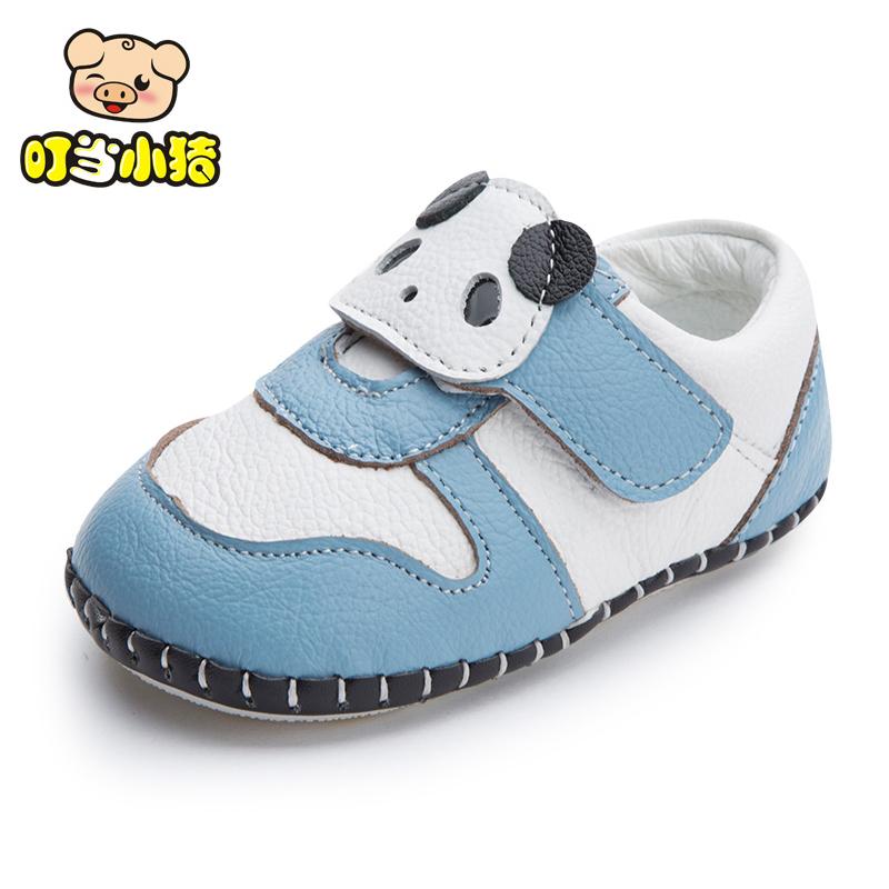 叮当小猪新品秋款宝宝鞋子婴儿软底学步鞋012皮皮鞋男女单鞋