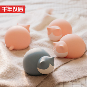 Cat silicone hot water bottle female infusion plumbing hand treasure small portable student warm foot bed cute portable