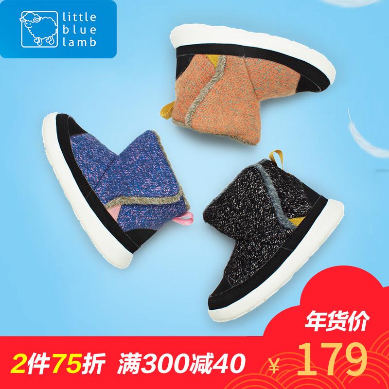 小蓝羊童鞋冬季新款儿童雪地靴女童棉靴加绒靴子男童冬鞋宝宝短靴
