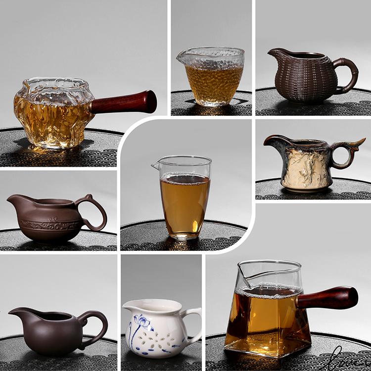 公道杯茶漏整套装大号功夫茶具陶瓷分茶器茶海杯玻璃过滤茶道配件