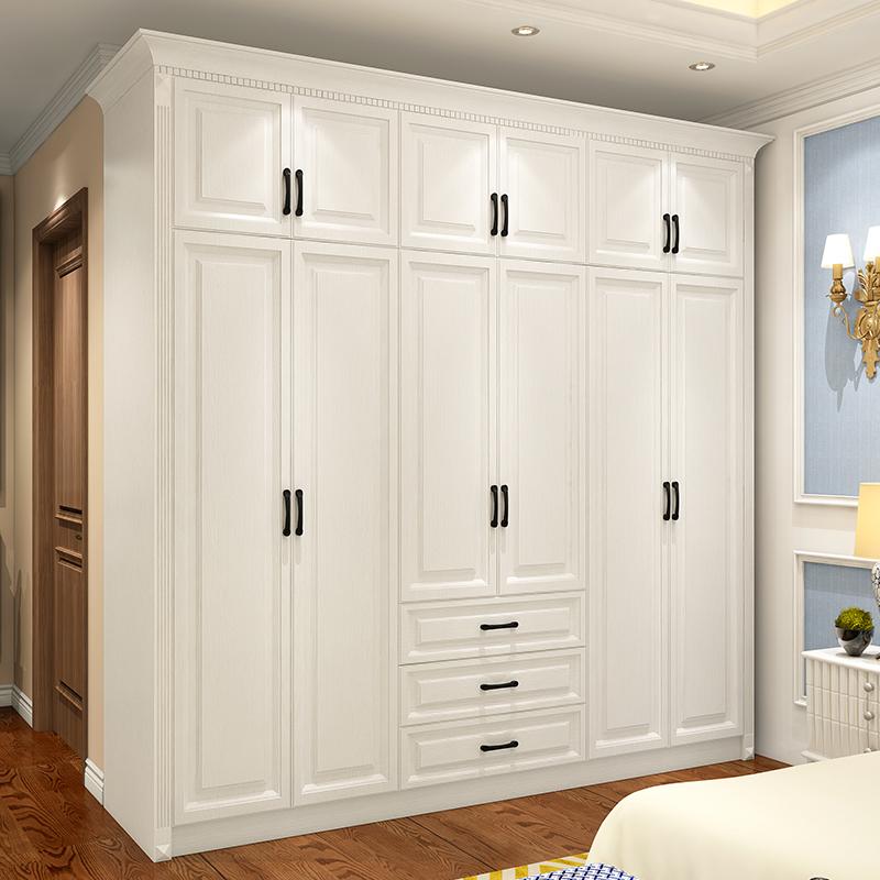 北欧式三门四门衣柜组合卧室简约现代整体大衣橱储物柜阳台柜家用