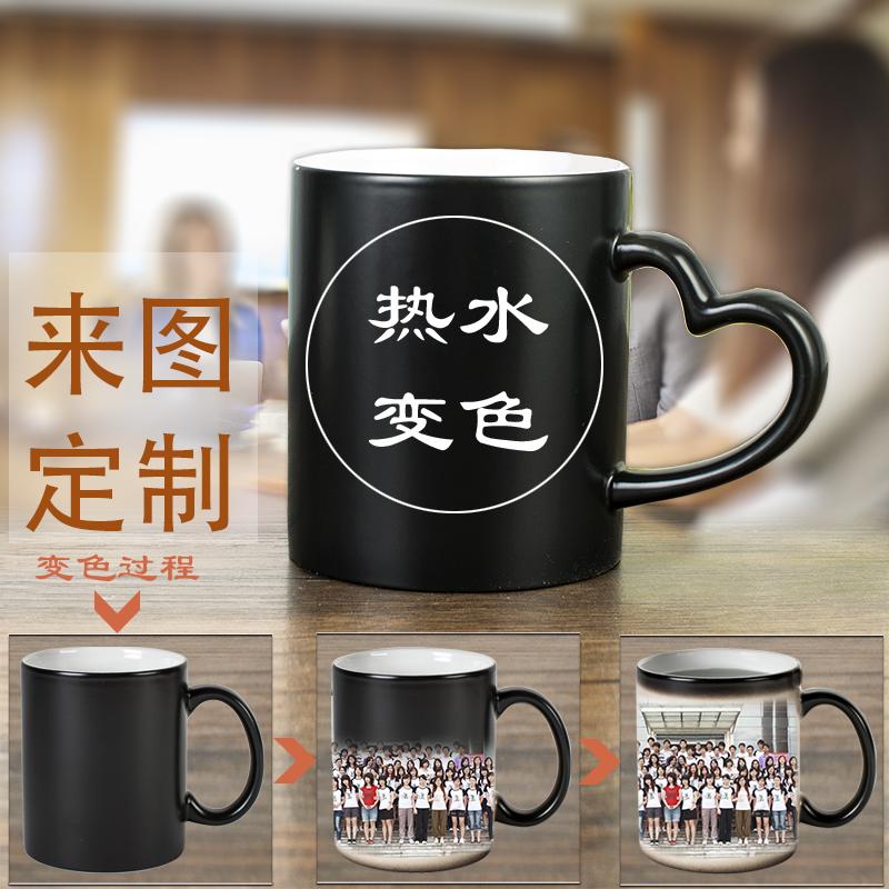 个性马克杯定制logo定做陶瓷内彩杯印图照片文字二维码杯子订制