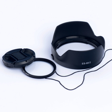 第3代2k0佳能 E55mm 1.8 1.4STM定焦 镜头遮光罩+UV镜+镜头