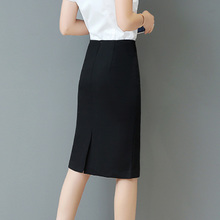 春秋职业裙高腰过膝半2f7裙中裙弹kk包臀裙包裙中长式正装裙