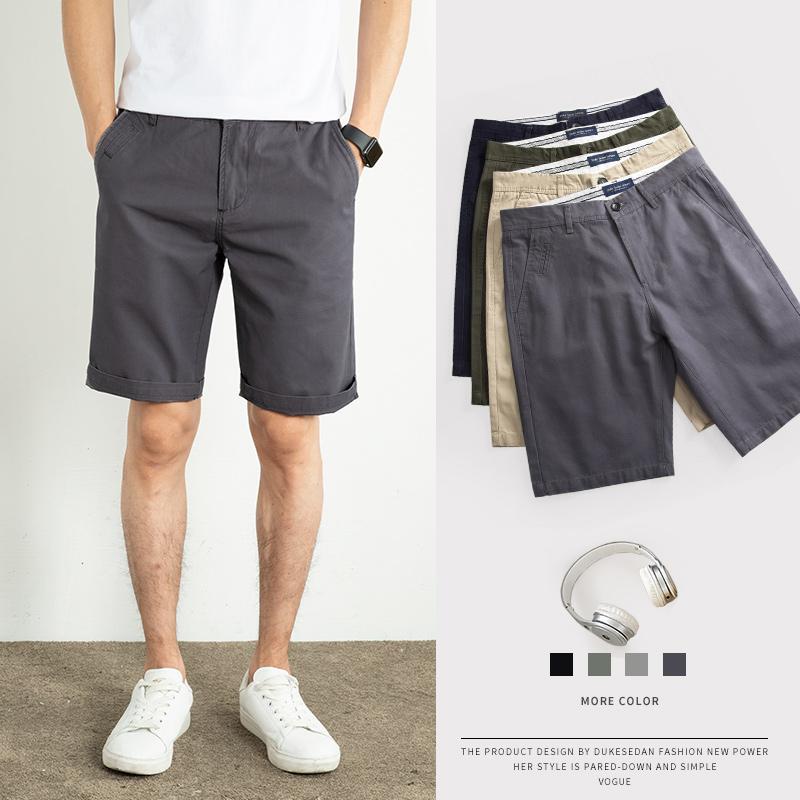 夏季男士休闲短裤男潮流宽松中裤纯棉加大码外穿潮牌黑色五分裤男