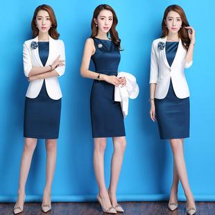 2020秋季职业装女装套装时尚西装连衣裙ol气质工作服女正装套装裙图片