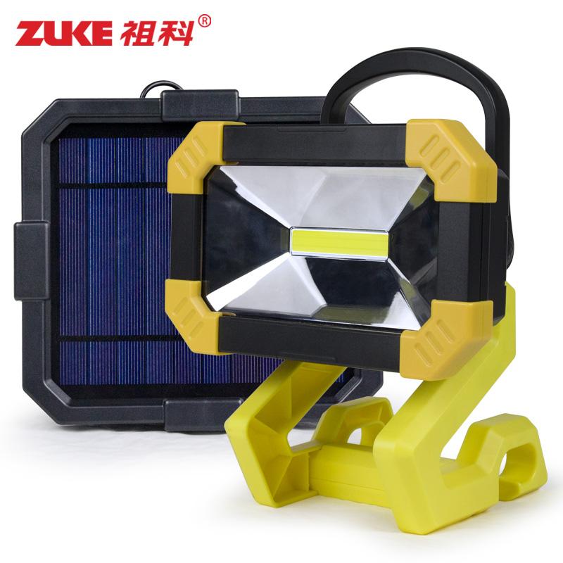 祖科太阳能灯户外多功能家用室内可充电防雨水庭院室外投光应急灯