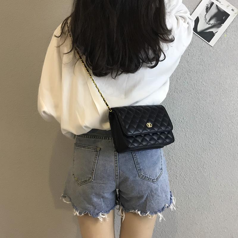 高级感小包包女2019新款潮菱格链条包chic斜挎包时尚百搭洋气女包