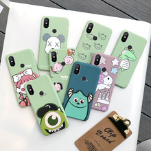 Xiaomi 6x mobile phone shell silica gel soft shell red rice 6x all inclusive fall proof mi6x cartoon 5x cute six mobile phone set five fork personal creativity ml6x men and women couple Xiaomi 6x Internet red ins trend