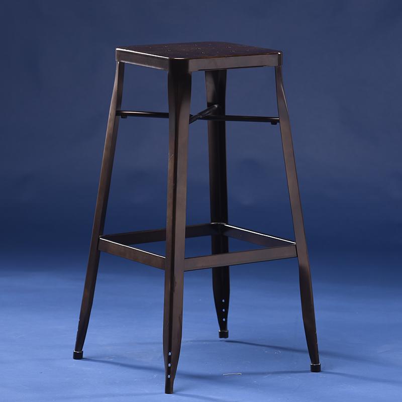 厂家直销酒吧凳铁皮凳复古做旧工业风铁皮椅餐椅餐厅酒店椅子特价