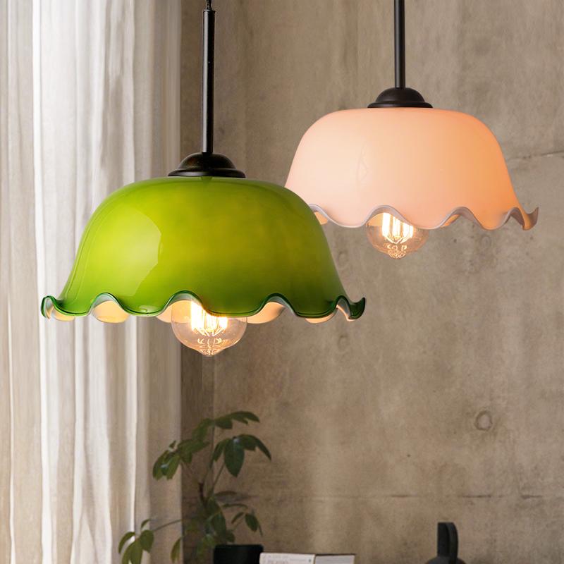kc美式复古怀旧老上海灯具吧台餐厅咖啡店创意个性玻璃单头小吊灯-kc灯具旗舰店