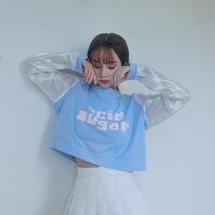 六一韩舞学生足球宝贝拉拉队服装爵士舞套装啦啦服团体舞台演出服图片