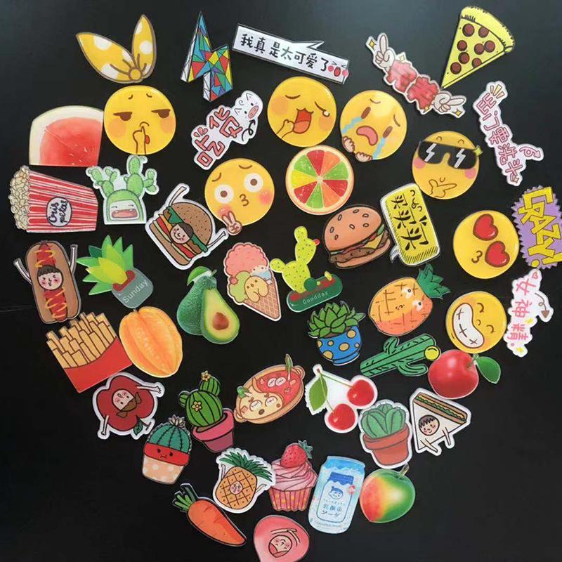 冰箱贴磁贴一套北欧ins卡通可爱创意食物磁铁贴吸铁石冰箱装饰diy