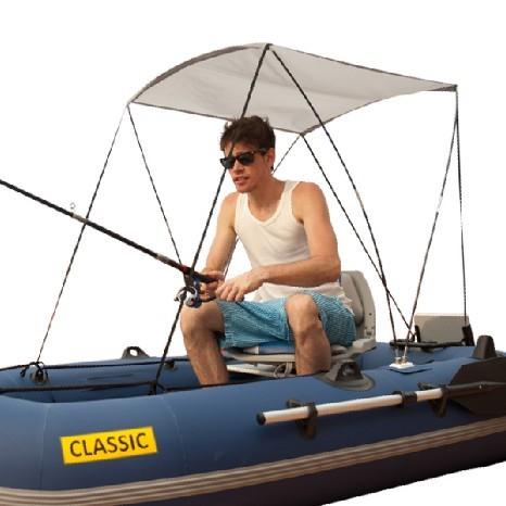 Как сделать навес для резиновой лодки