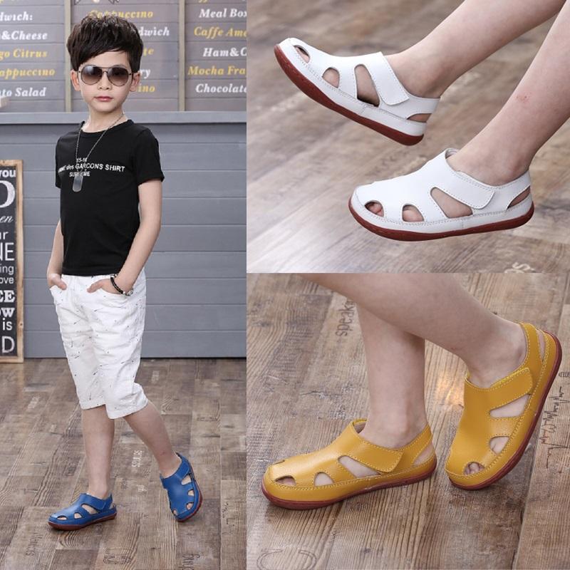 真皮男童凉鞋包头儿童潮鞋夏季款小孩中大童女童软底小童宝宝凉鞋