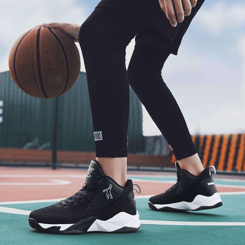 乔丹 格兰篮球鞋男学生高帮战靴夏季网面球鞋防滑耐磨运动鞋透气