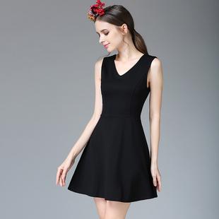 小黑裙2018 新款大码无袖连