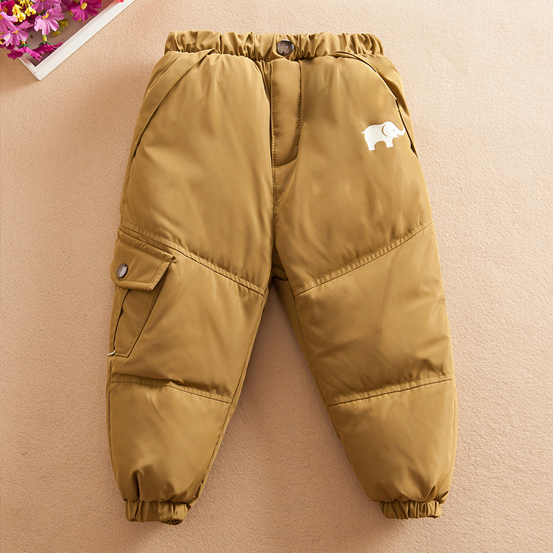 冬季儿童羽绒裤男童女童新款1-4岁小童加厚婴幼儿宝宝保暖裤外穿
