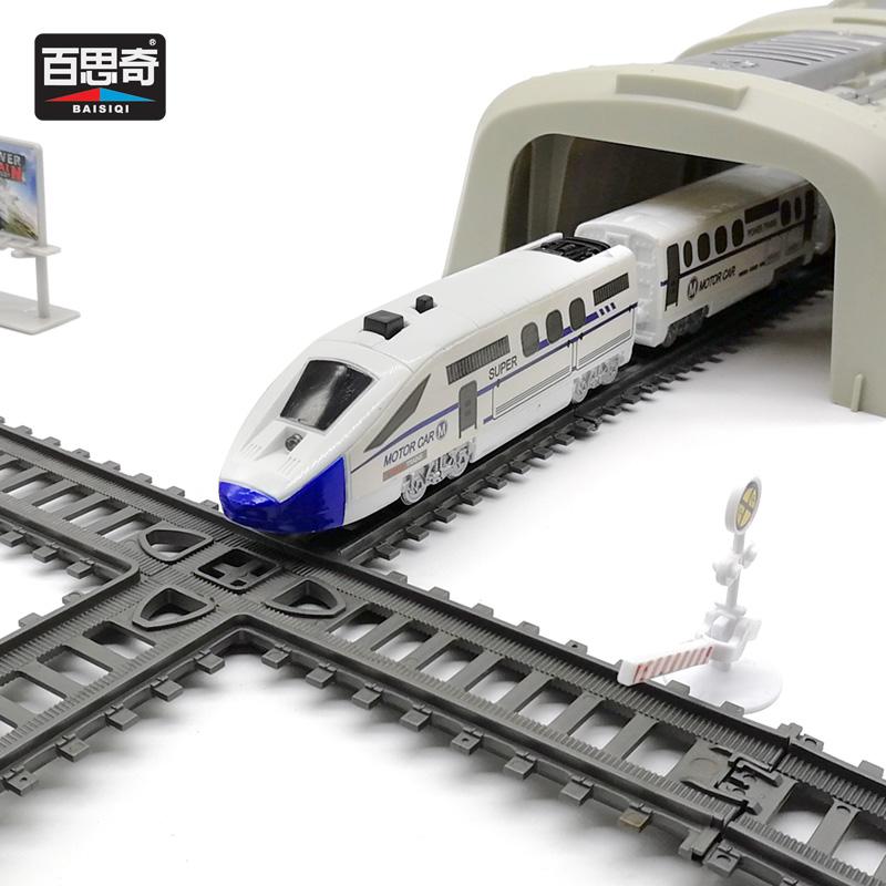 高铁轨道车玩具 电动儿童仿真和谐号4-6-10岁男孩小火车轨道动车