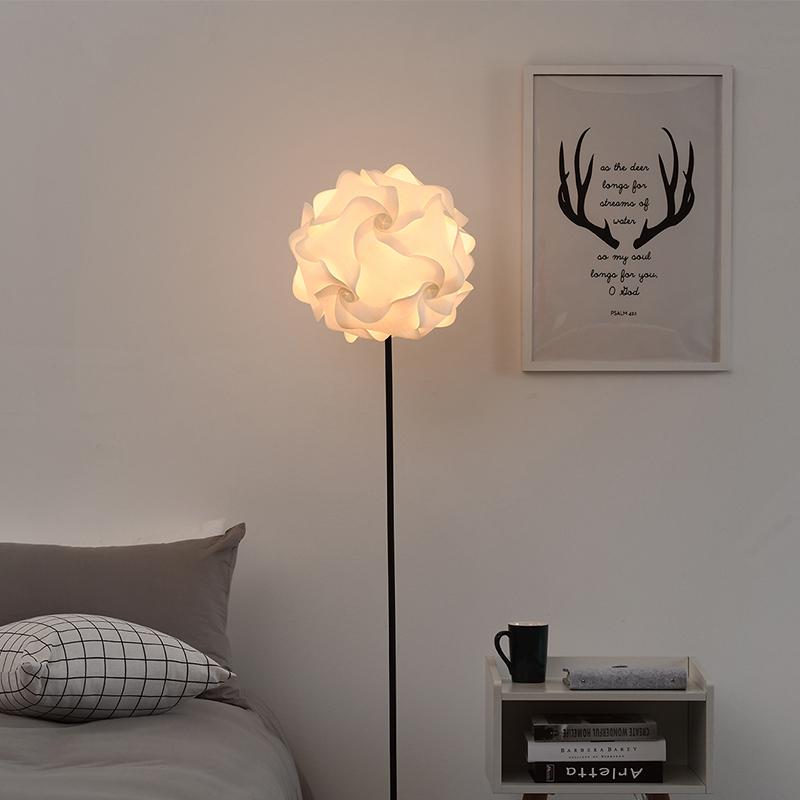 客厅沙发灯北欧简约立式床头灯宜家装饰台灯花朵ins风卧室落地灯