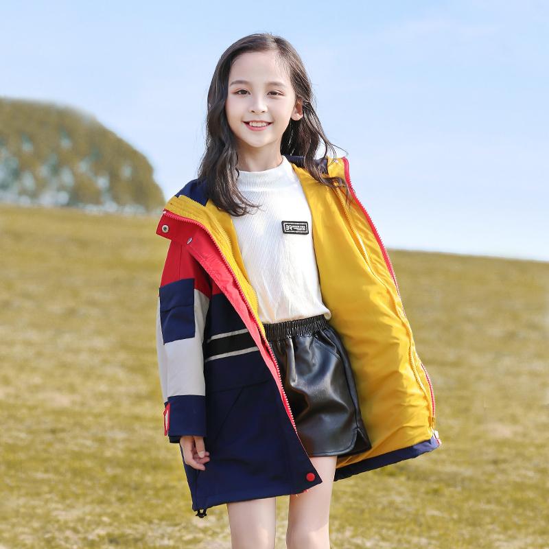 女童冲锋衣三合一可拆卸秋冬款加绒加厚大童儿童秋装外套2019新款