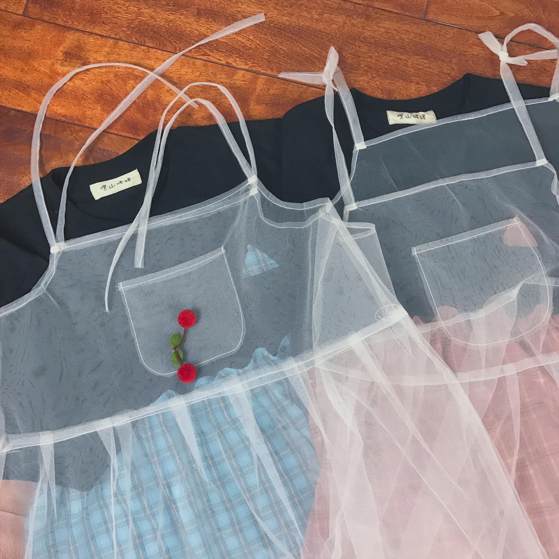 姥姥 独立 自制 可爱 起来 吊带 仙女 纱裙
