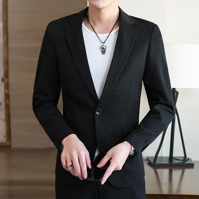 中青年大码商务男士西服修身职业装正装西装结婚新郎礼服外套