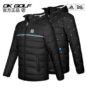 高尔夫服装Adidas/阿迪达斯羽绒服男士双面冬季短款轻薄羽绒服