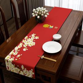 中式茶旗布桌旗中式禅意茶几台布古典茶道长条桌巾茶席餐桌布定制