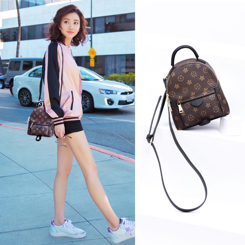 黑眼袋袋2017新款双肩包迷你女包韩版背包百搭书包时尚休闲小包包