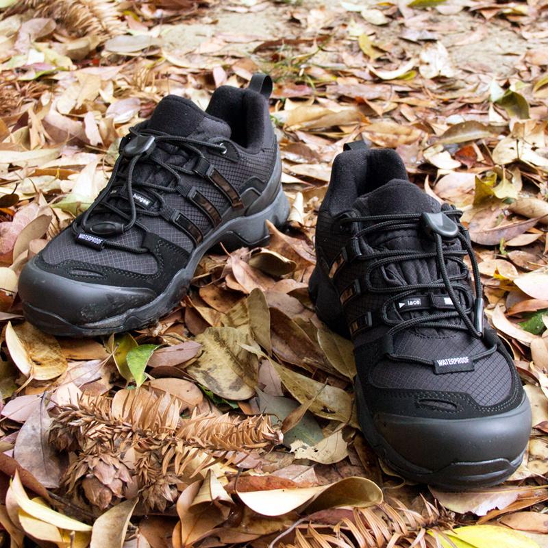 EDITEX户外徒步鞋防水登山男防滑休闲旅游耐磨低帮运动轻便爬山鞋