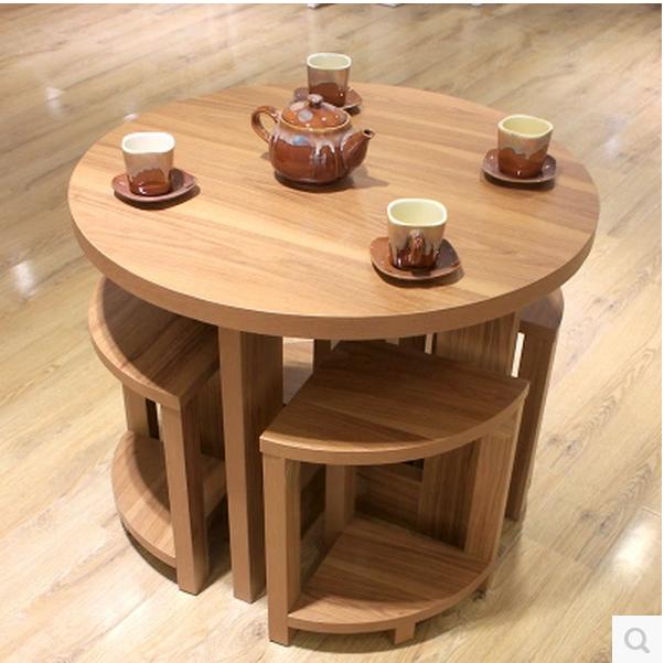 圆形餐桌洽谈接待圆桌小户型饭桌圆餐桌椅简约现代小咖啡圆桌定做