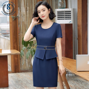 Professional dress hotel receptionist beauty salon real estate jewelry store shopping overalls summer short sleeve