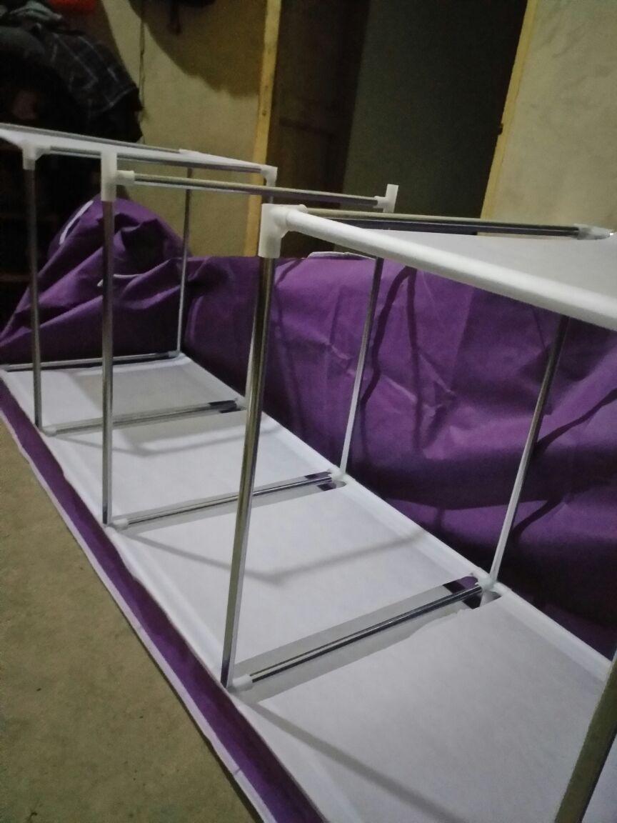 简易小衣柜收纳布艺牛津布衣柜钢管加粗组装钢架衣橱加固单人折叠