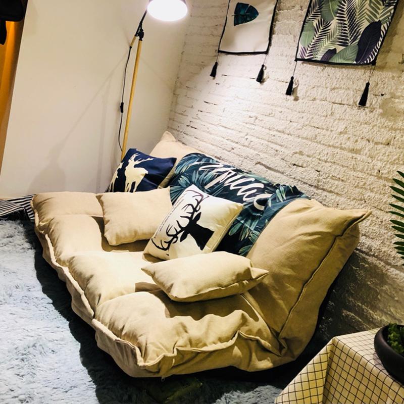 懒人沙发榻榻米折叠沙发床两用双人日式多功能小户型卧室小沙发椅